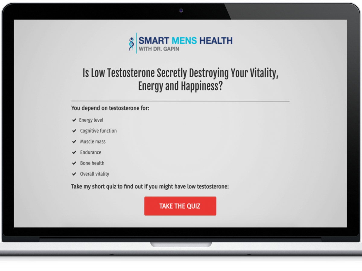 Smart Men's Health Lead Generation Funnel